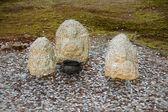 Ofta påträffas form av erbjudanden stena idoler — Stockfoto