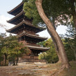 The historic pagoda in Kyoto - Toji Pagoda — Stock Photo