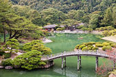 Japanese Garden in Takamatsu — Stock Photo