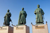 Samurai monument in front of the railway station Kochi — Stock Photo