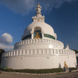 Big white stupa — Stock Photo