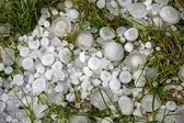Big ice balls hail — Stock Photo
