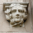 Decorative head - decoration at the entrance to the stables at the palace in Pszczyna — Stock Photo #35613137