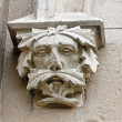 Decorative head - decoration at the entrance to the stables at the palace in Pszczyna — Stock Photo