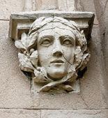 Dekorative kopf - dekoration am eingang zu den ställen im palast in pszczyna — Stockfoto