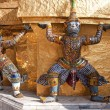 Demons Statues in Wat Phra Kaeo - Bangkok — Stock Photo #39645913