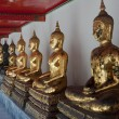 The statues of Buddha at Wat Pho - Bangkok — Stock Photo