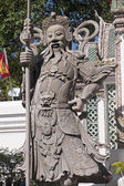 Chinese statue guard in Wat Pho - Bangkok — Photo