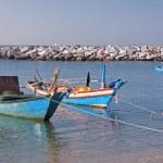 Fishing boats moored in the bay — Zdjęcie stockowe