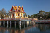 Temple on the water in Rayong — Stock Photo