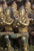 Musicant statues in the seaside temple on the beach — Foto Stock