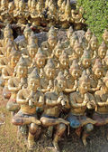 Musicants statues in the seaside temple on the beach in — Stock Photo