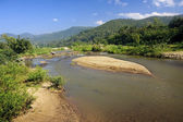 View of the river in the town of Pai — Stock Photo