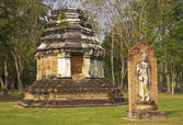 Old buildings in the Historical Park in Sukhothai — Stockfoto