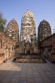 Ancient buildings temple in Sukhothai — Stockfoto