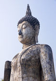 The head of a statue of Buddha in Old Sukhothai — Stock Photo