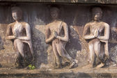 Religious reliefs from the walls of temples in Sukhothai — Stock Photo