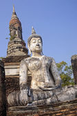 Seated buddha statue in Sukhothai — Stock Photo