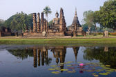 View of the ruins in Sukhothai Historical Park — Stock Photo