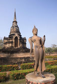 Old buildings in the Historical Park in Sukhothai — Стоковое фото