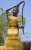 Statue Phra Thorani in Ayutthaya — Stock Photo