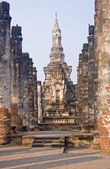 Ancient buildings temple in Sukhothai — ストック写真