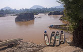 Boat on the River Mekong — Stock Photo