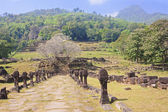 The ruins of the ancient city in Champasak — Stock Photo