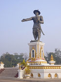 Statue Quai Fa Ngum in Vientiane — Stock Photo