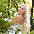 Stock Photo: Pretty blond girl outdoor