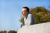 Closeup portrait of young man outdoors — Stock Photo