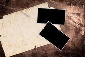 Wzór papieru i wieku ramki na drewno — Zdjęcie stockowe