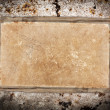 Weathered old paper sheet on wood — Foto Stock