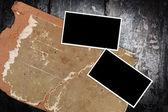 Старые кадры из картона и пустой phoho — Стоковое фото
