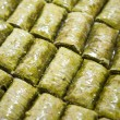 Baklava (dessert made of pastry, nuts, and honey) - Stock Photo