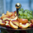 Selection of fruits served on plate — Stock Photo