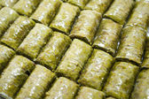 Baklava (dessert made of pastry, nuts, and honey) — Stock Photo