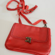 Little red handbag — Stock Photo