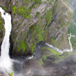Waterfall Voringfossen, Norway — Stock Photo