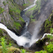 Stock Photo: Waterfall Voringfossen, Norway