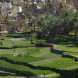 The village Bilad Sayt, sultanate Oman - Stock Photo