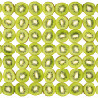 Background  made of kiwi slices isolated on white background — Стоковая фотография