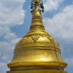 Dharmikarama burmese temple on island Penang, Malaysia — Stock Photo