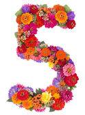 Numéro 5, faite de fleurs — Photo