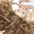 Foto Stock: Beautiful young womwith wonderful hair
