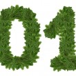 2013, christmas tree font. — Foto Stock
