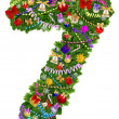 Stock Photo: Number 7. Christmas tree decoration