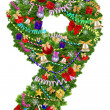 Stock Photo: Number 9. Christmas tree decoration
