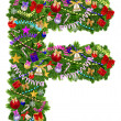 Letter F. Christmas tree decoration — Stock Photo