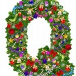 Letter Q. Christmas tree decoration — Foto Stock